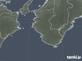 2019年01月24日の和歌山県の雨雲の動き