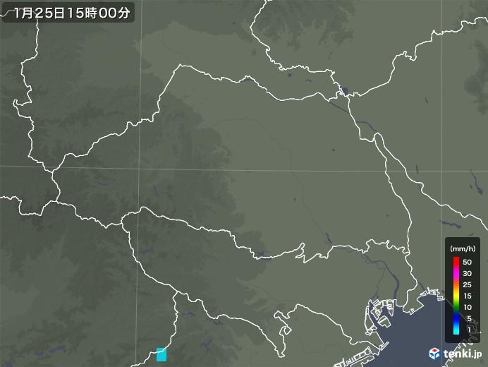 埼玉県の雨雲レーダー(2019年01月25日)