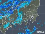 2019年01月28日の関東・甲信地方の雨雲の動き