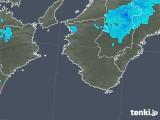 2019年01月28日の和歌山県の雨雲の動き