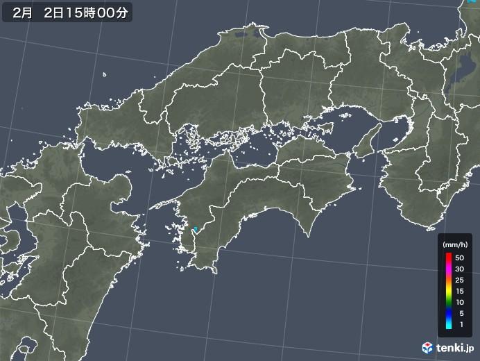 四国地方の雨雲レーダー(2019年02月02日)
