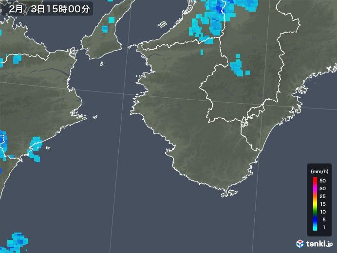 和歌山県の雨雲レーダー(2019年02月03日)