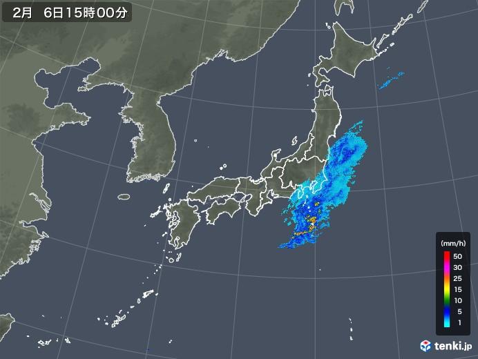 雨雲レーダー(2019年02月06日)
