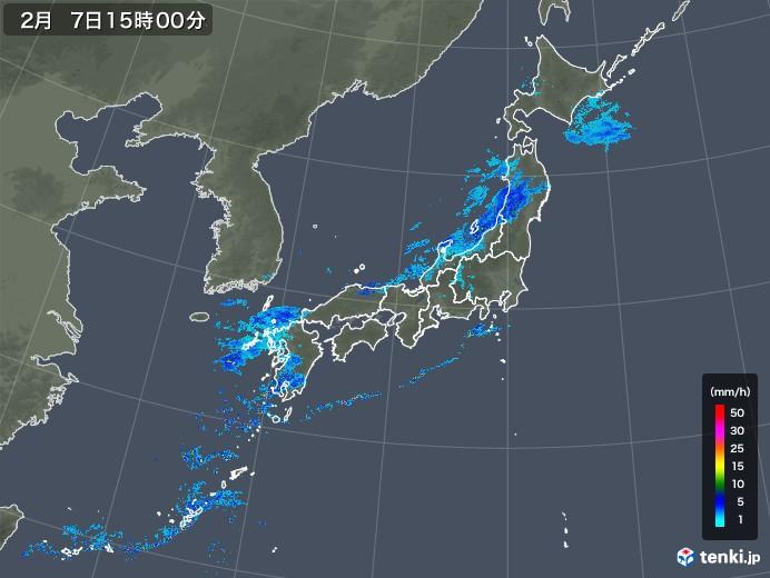 雨雲レーダー(2019年02月07日)