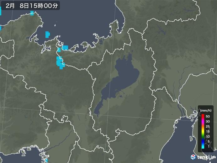 滋賀県の雨雲レーダー(2019年02月08日)