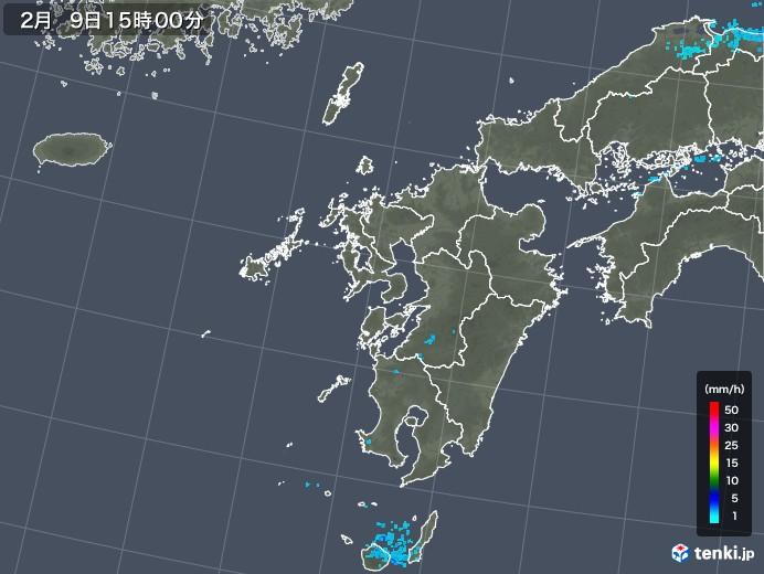 九州地方の雨雲レーダー(2019年02月09日)