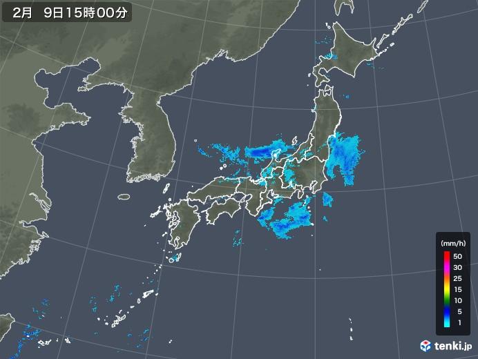 雨雲レーダー(2019年02月09日)