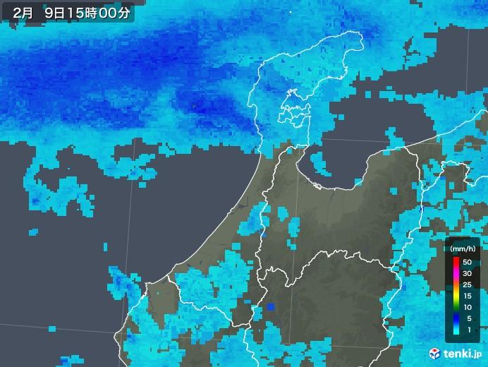 石川県の雨雲レーダー(2019年02月09日)