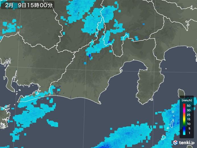 静岡県の雨雲レーダー(2019年02月09日)