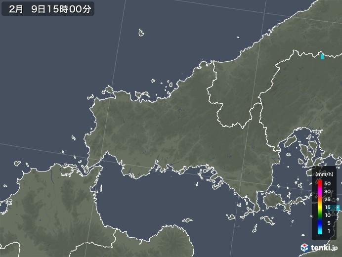 山口県の雨雲レーダー(2019年02月09日)