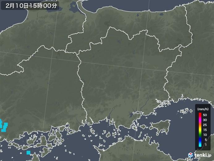 岡山県の雨雲レーダー(2019年02月10日)