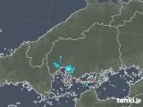 2019年02月10日の広島県の雨雲の動き