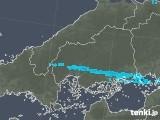 2019年02月12日の広島県の雨雲の動き