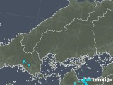 2019年02月14日の広島県の雨雲の動き