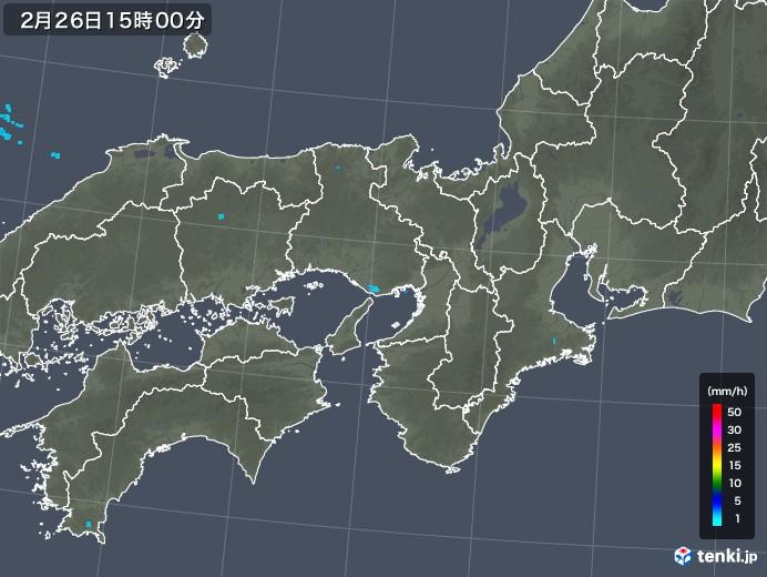 近畿地方の雨雲レーダー(2019年02月26日)