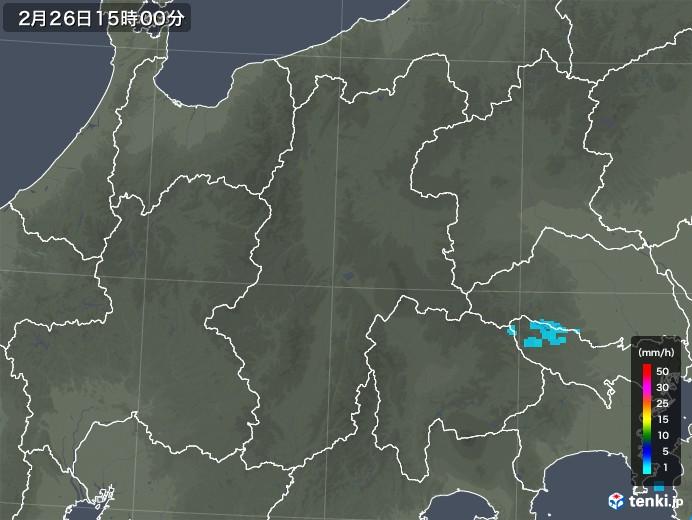 長野県の雨雲レーダー(2019年02月26日)