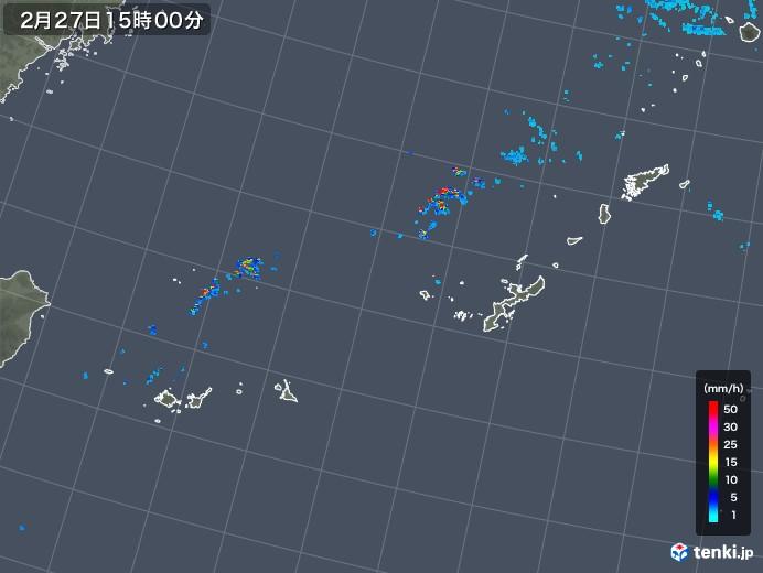 沖縄地方の雨雲レーダー(2019年02月27日)