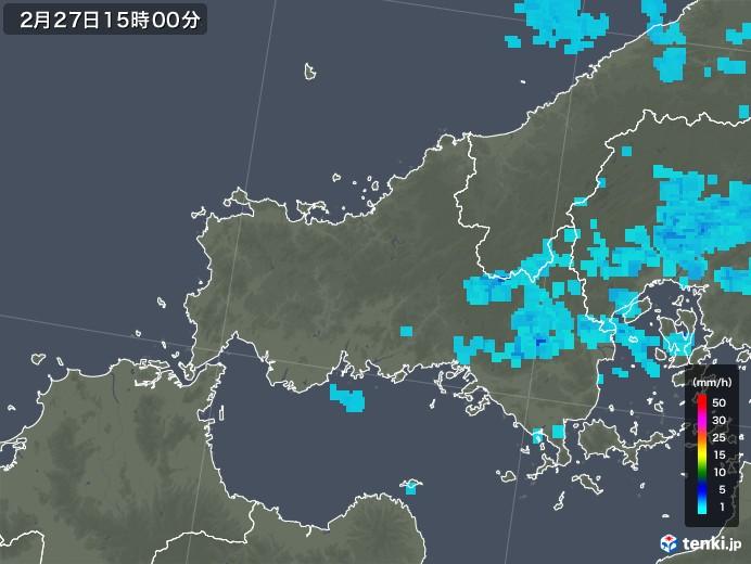 山口県の雨雲レーダー(2019年02月27日)