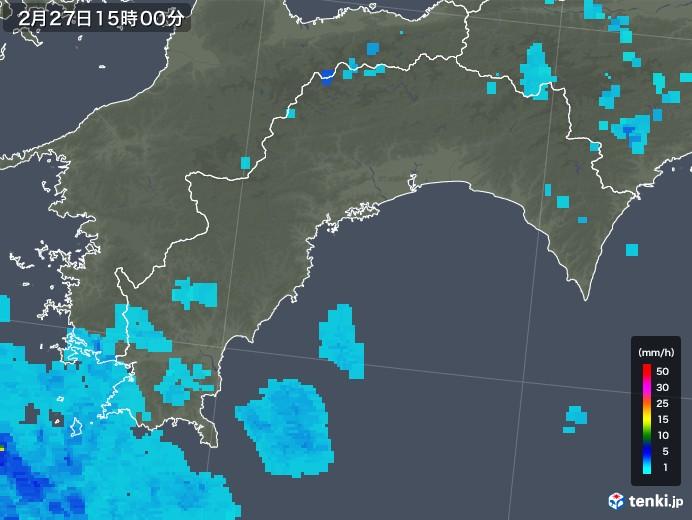 高知県の雨雲レーダー(2019年02月27日)