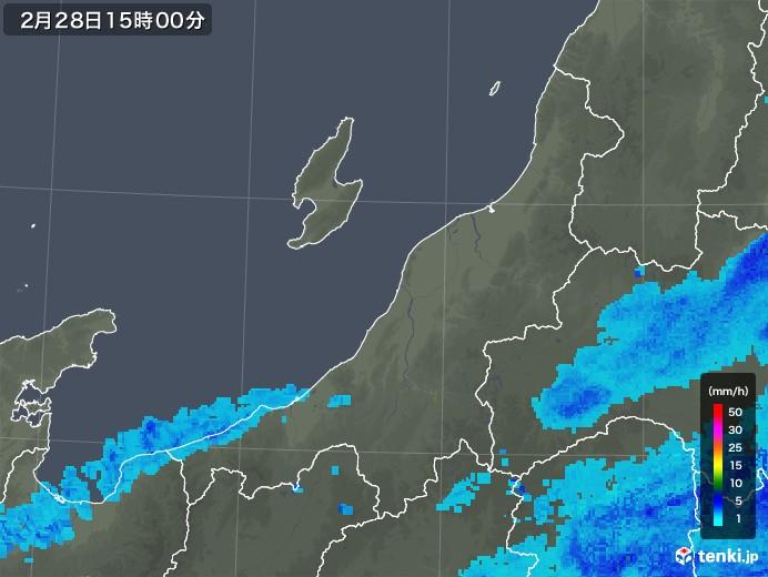 新潟県の雨雲レーダー(2019年02月28日)