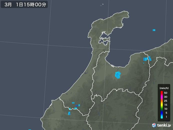 石川県の雨雲レーダー(2019年03月01日)