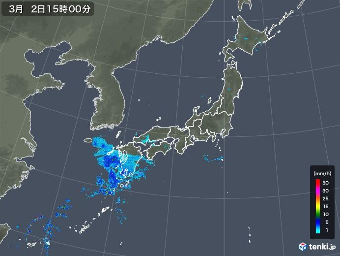 雨雲レーダー(2019年03月02日)