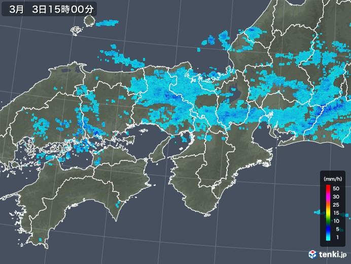 近畿地方の雨雲レーダー(2019年03月03日)