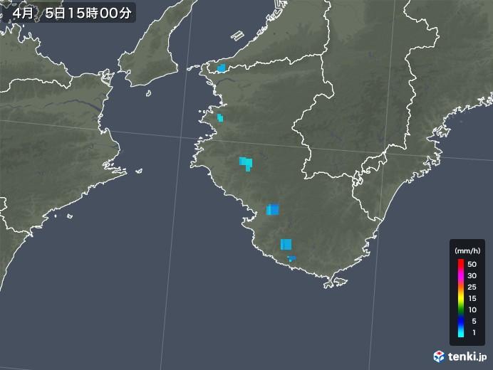 和歌山県の雨雲レーダー(2019年04月05日)
