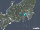 2019年04月07日の関東・甲信地方の雨雲の動き