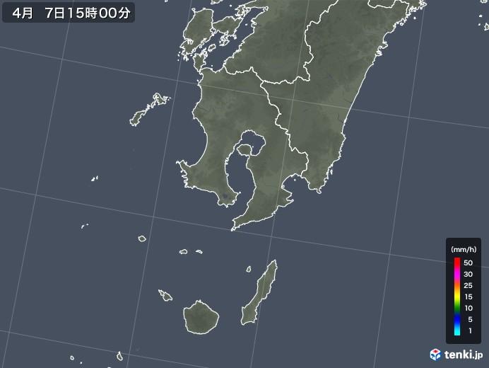 鹿児島県の雨雲レーダー(2019年04月07日)