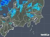 2019年04月08日の関東・甲信地方の雨雲の動き