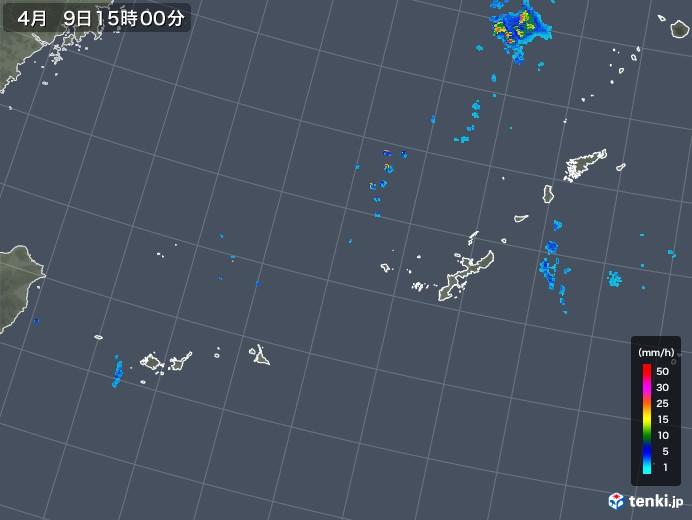 沖縄地方の雨雲の動き(2019年04月09日)