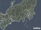 2019年04月18日の関東・甲信地方の雨雲の動き