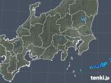 2019年04月22日の関東・甲信地方の雨雲の動き