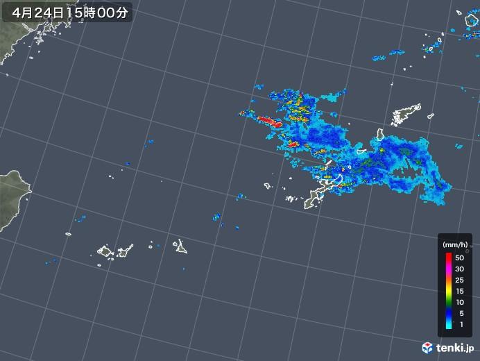 沖縄地方の雨雲の動き(2019年04月24日)