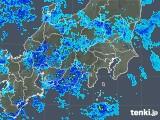2019年04月24日の関東・甲信地方の雨雲の動き