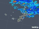 2019年04月24日の沖縄県の雨雲の動き