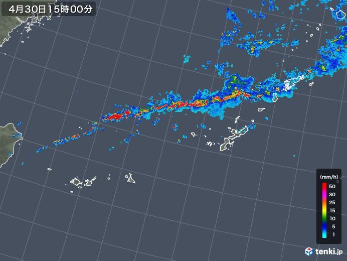 沖縄地方の雨雲レーダー(2019年04月30日)