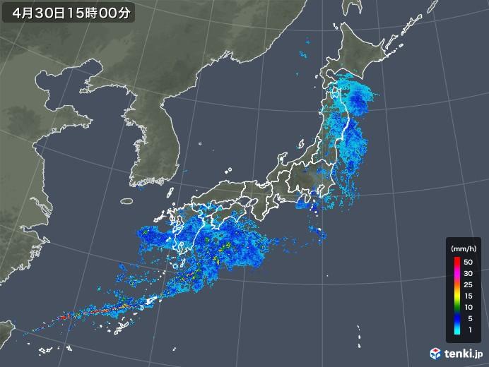 雨雲の動き(2019年04月30日)