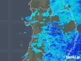 2019年04月30日の秋田県の雨雲の動き