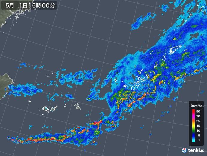 沖縄地方の雨雲レーダー(2019年05月01日)