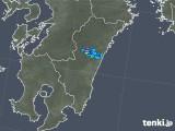 2019年05月03日の宮崎県の雨雲の動き
