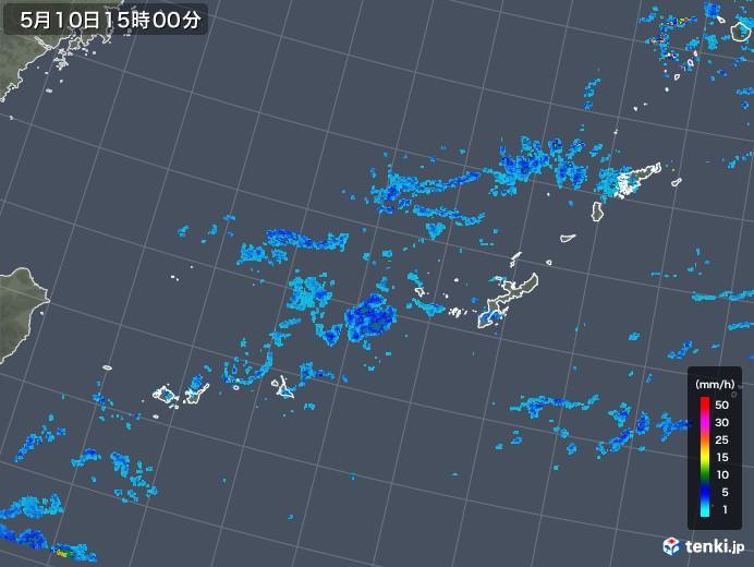 沖縄地方の雨雲レーダー(2019年05月10日)
