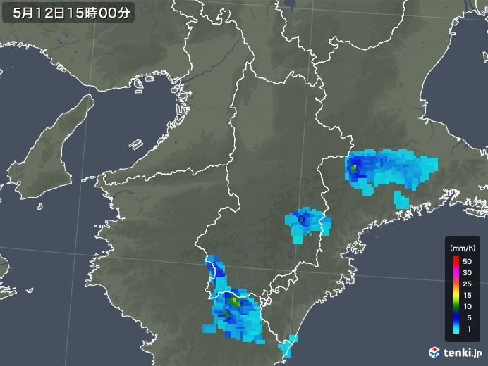 奈良県の雨雲の動き(2019年05月12日)