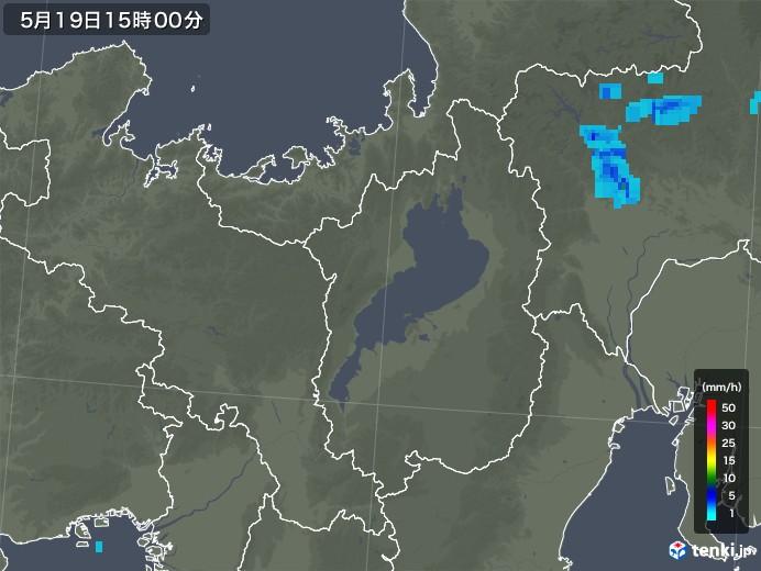 滋賀県の雨雲レーダー(2019年05月19日)
