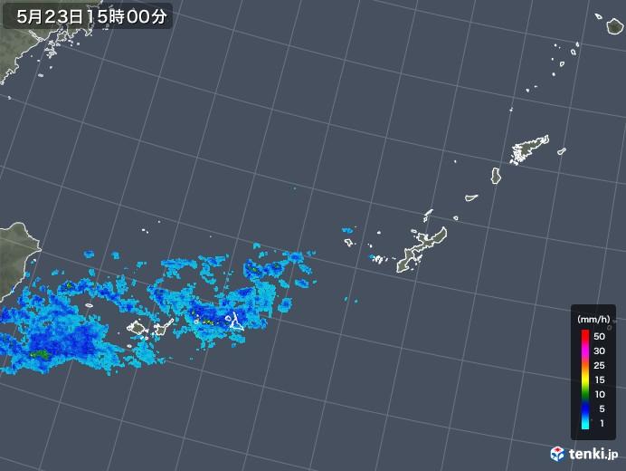 沖縄地方の雨雲レーダー(2019年05月23日)