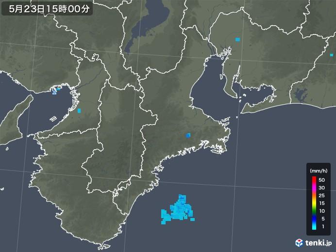 三重県の雨雲の動き(2019年05月23日)