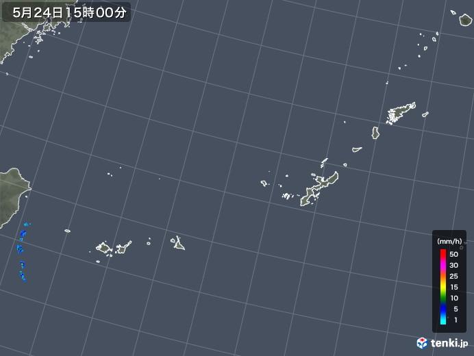 沖縄地方の雨雲レーダー(2019年05月24日)