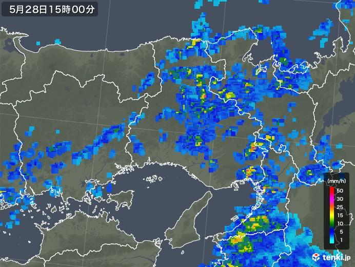 兵庫県の雨雲レーダー(2019年05月28日)