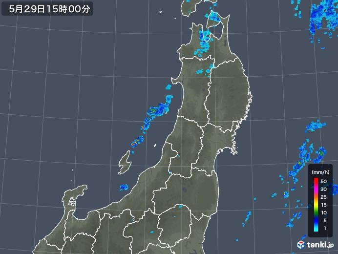 東北地方の雨雲レーダー(2019年05月29日)